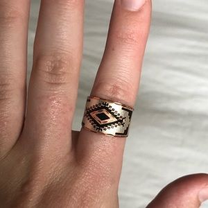 Aztec-Patterned Ring